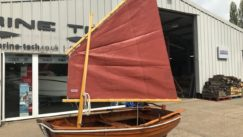 Clinker Built Lugsail Dinghy / Row Boat